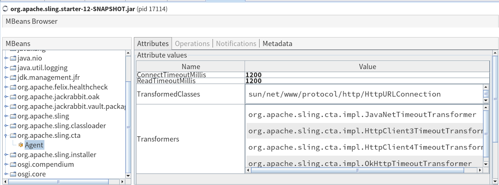 Apache Sling :: Connection Timeout Agent